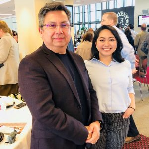 man and woman posing
