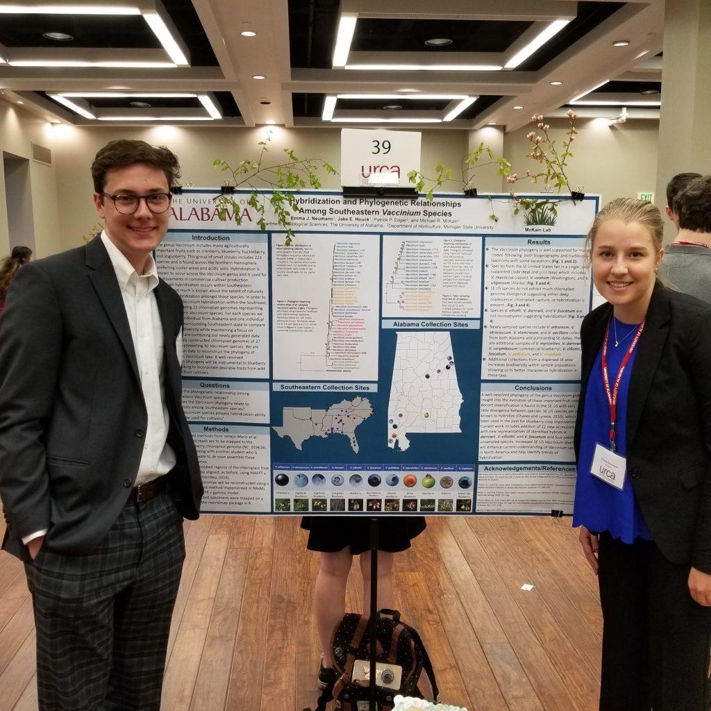 Emma Neumann & Jake Houck (McKain) - tied for 1st Place (Life Sciences - In Progress)