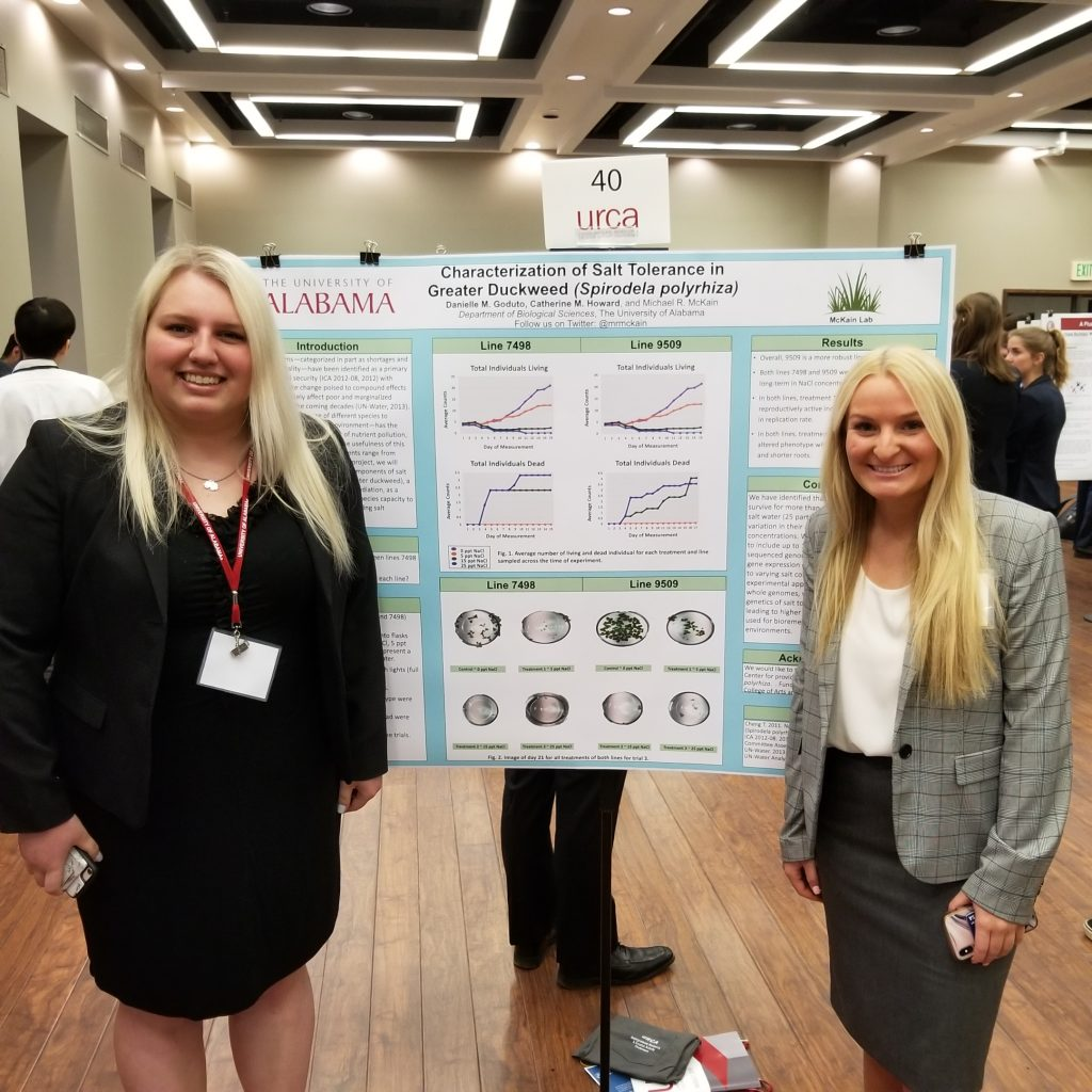 Danielle Goduto & Catherine Howard (McKain) - tied for 2nd Place (Life Sciences - In Progress)