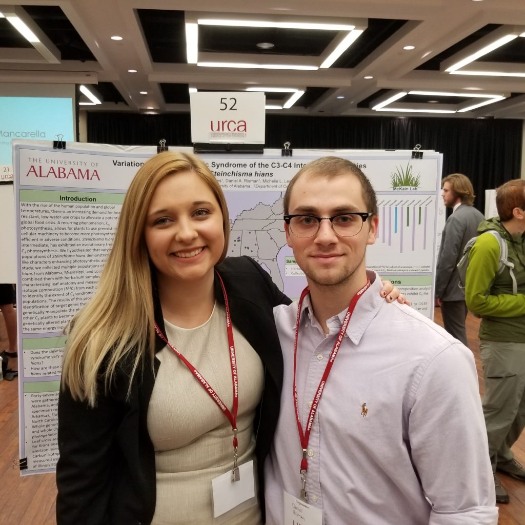 Sydney Jones & Daniel Risman (McKain) - Honorable Mention (Life Sciences - In Progress)