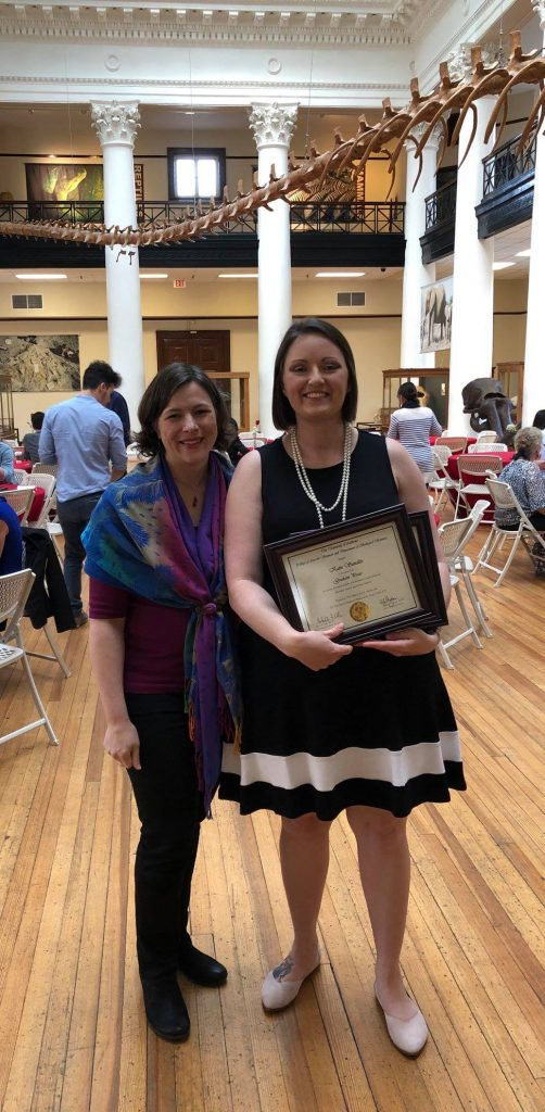 Katie Sandlin (Inge and Ilouise Hill Research Fellowship) and mentor Dr. Laura Reed