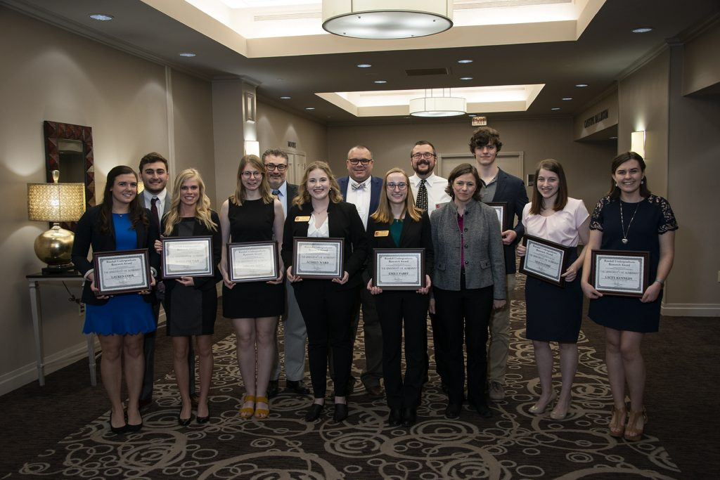 Randall Outstanding Undergraduate Research Awardees and their mentors