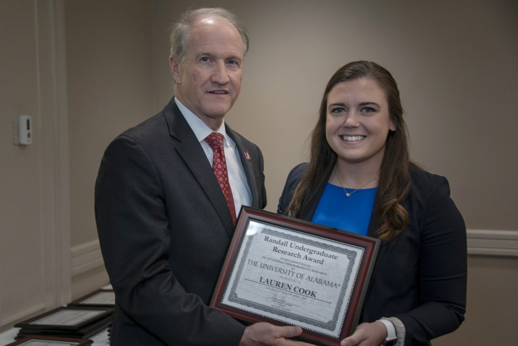 Lauren Cook (K. Caldwell) - Randall Outstanding Undergraduate Research Award