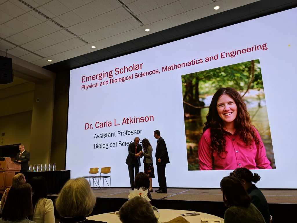 Dr. Carla Atkinson receives President's Research Award