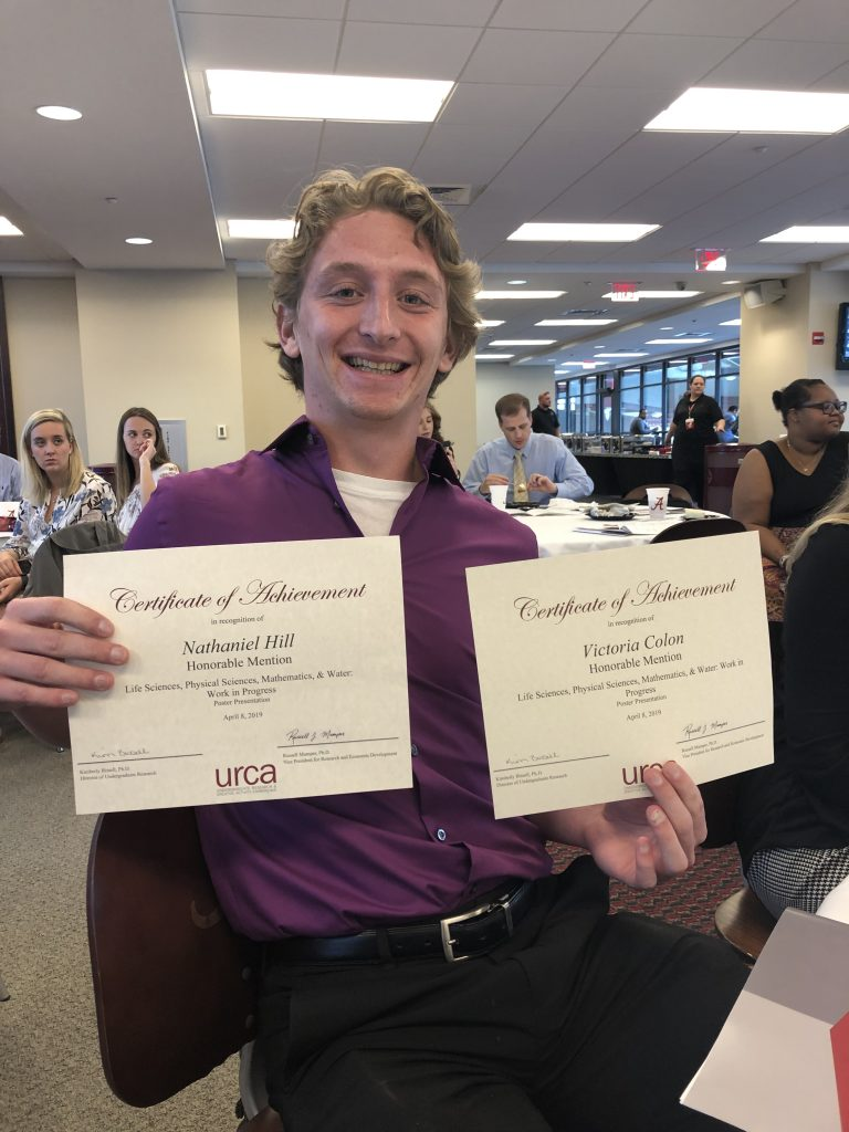 Nathaniel Hill (URCA Honorable Mention)