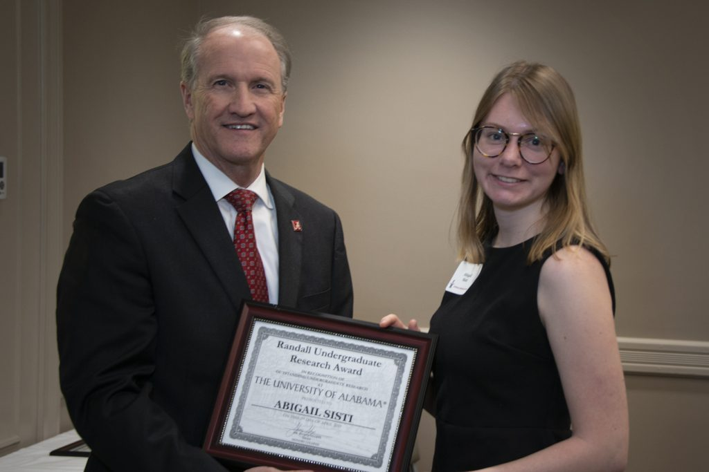 Abigail Sisti (Earley) - Randall Outstanding Undergraduate Research Award