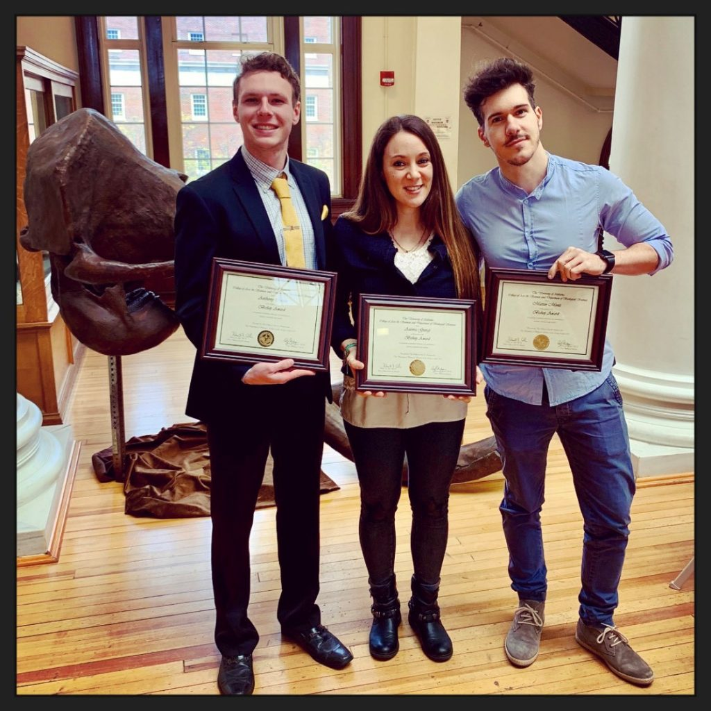 Anthony Cremo, Aurora Giorgi, and Matteo Monti (Bishop Award)