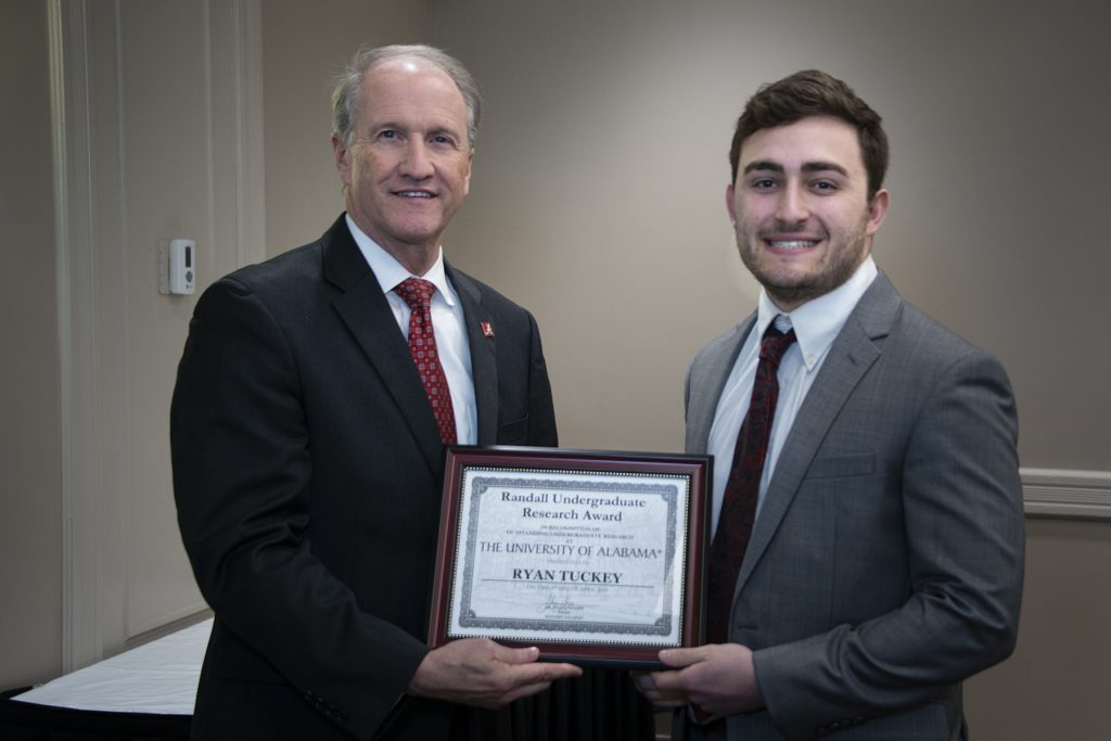 Ryan Tuckey (G. Caldwell) - Randall Outstanding Undergraduate Research Award