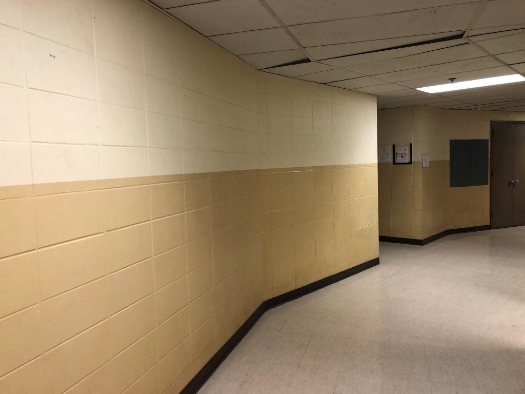 Biology building hallway