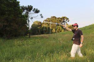 Gui radio-tracking wildlife in Brazil.